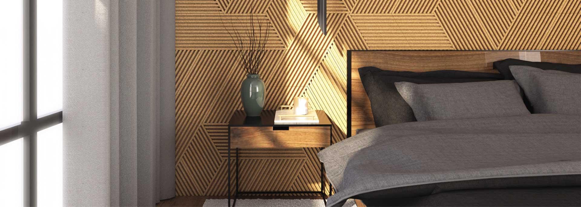 Panele akustyczne 3D na ścianie